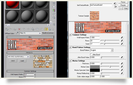 steel texture in maya. With the BRIX texture plugin