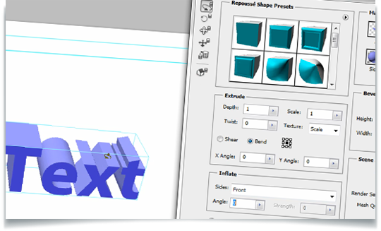 how to make 3d shapes in photoshop cs5