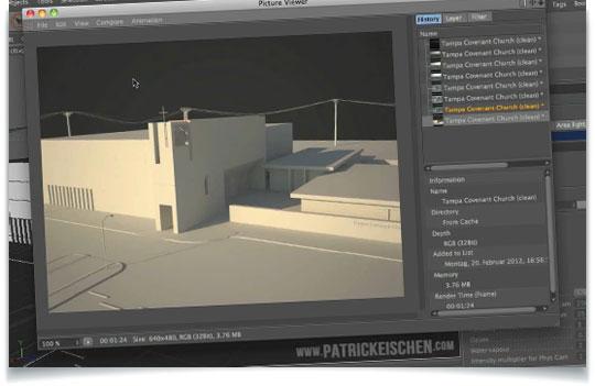 Creating Exterior Lighting in Cinema 4D Using VrayForC4D