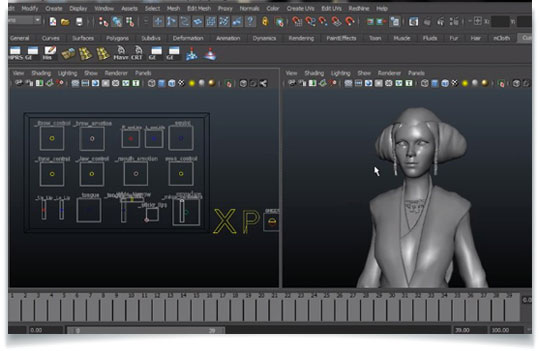 Horny girl Facial animation and lip sync in maya