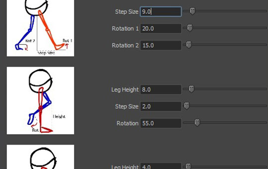 Walktool-for-Maya-builds-simple-procedural-walk-cycles