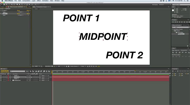 how to find midpoint between two points