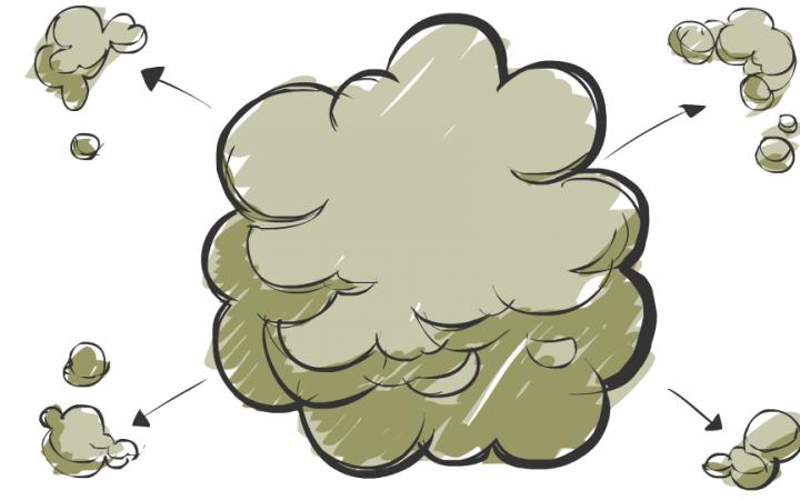 Radial smoke