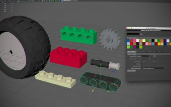 Maya Lego Generator Generates Accurately Sized Lego bricks and Technic Pieces