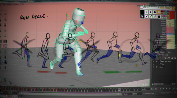 Animating a Walk and Run Cycle for Video Games