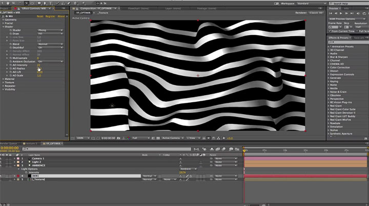Trapcode MIR, Creating High Contrast Op-Art