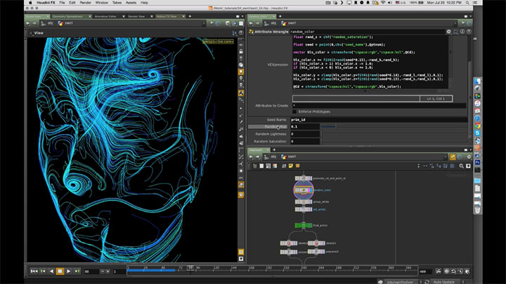 Creating a Particle Trails Effect With Houdini VEX