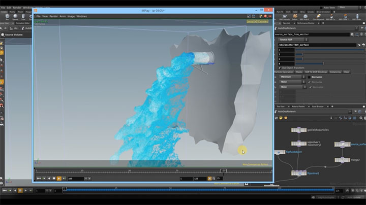 Fake an AirField for Fluid Simulations in Houdini