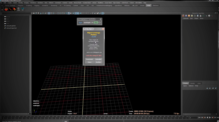 Create an Object at the Average Position of a Selection in Maya