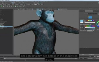 Create a Full Fur Groom for a Chimpanzee With Maya's XGen