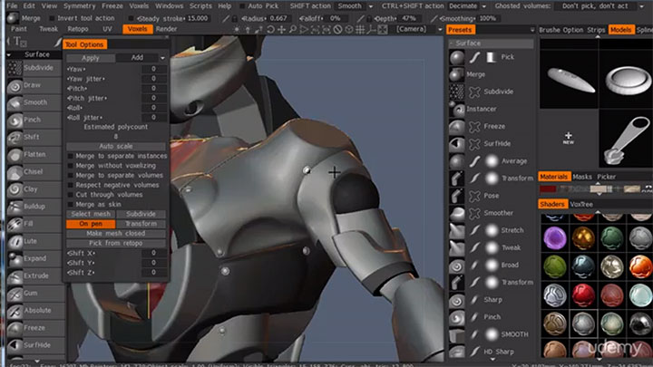 Hard Surface Modeling and Sculpting Course in 3D Coat