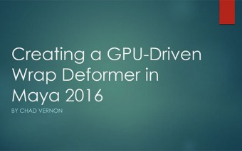 Create a GPU Driven Wrap Deformer in Maya 2016