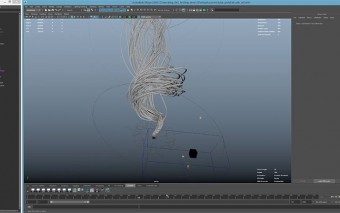 Extrude Particle Paths in Maya With the ParticleToTube Script