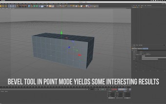 Use the Bevel Tool in Point Mode for Modeling in C4D
