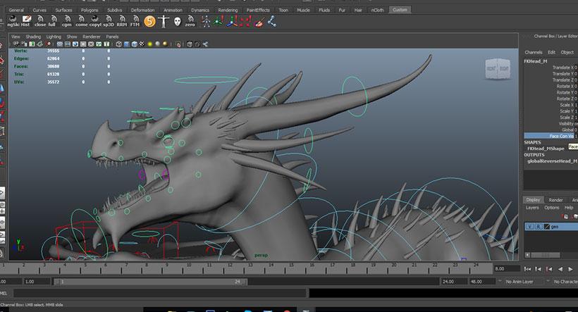 maya free dragon rig