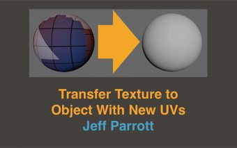 Transfer Textures Between Objects With Different UV's, in Maya