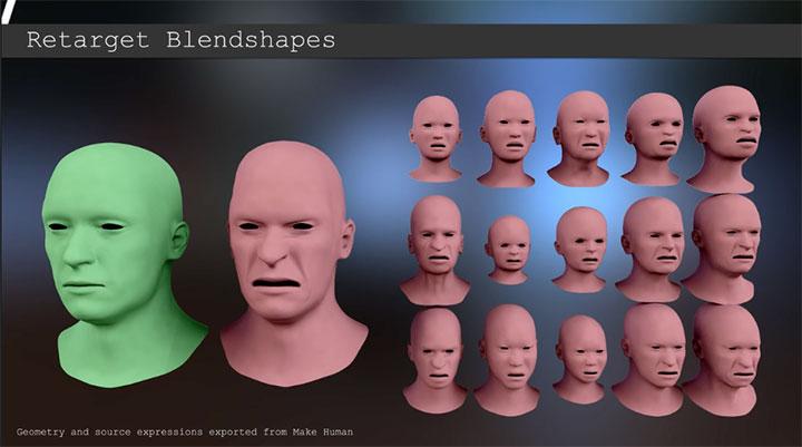 Facial expressions in maya