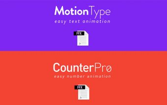 Two Free, Nice Ae Presets: MotionType and CounterPro