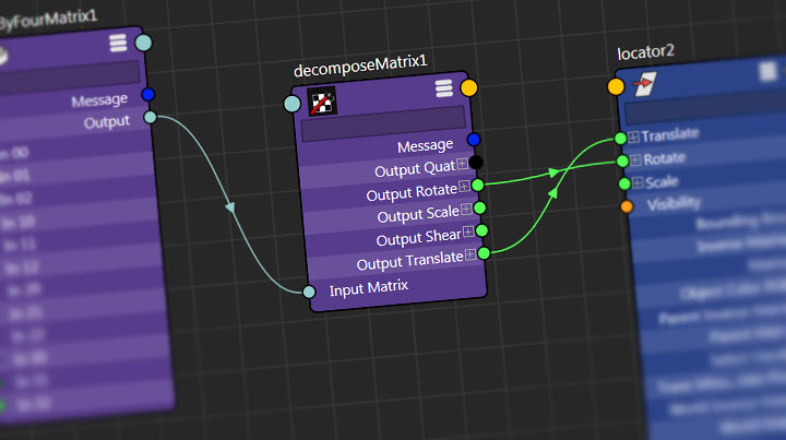 Make a Maya Rivet With Matrix Nodes