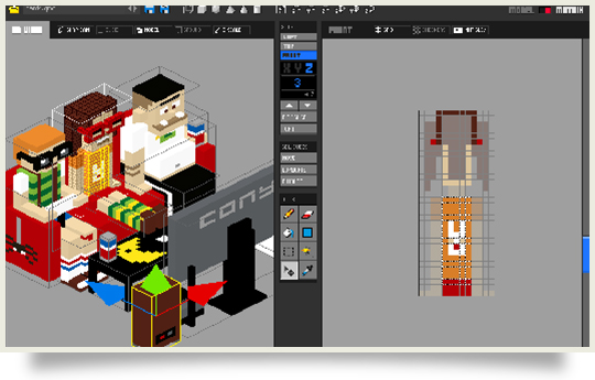 Qubicle 3D pixel art tool for creating and animating 3d