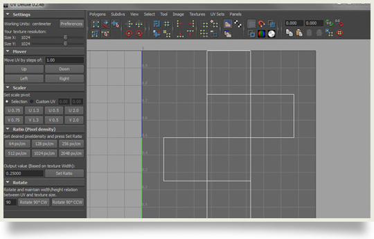 UVDeluxe, extended uv mapping toolset for maya