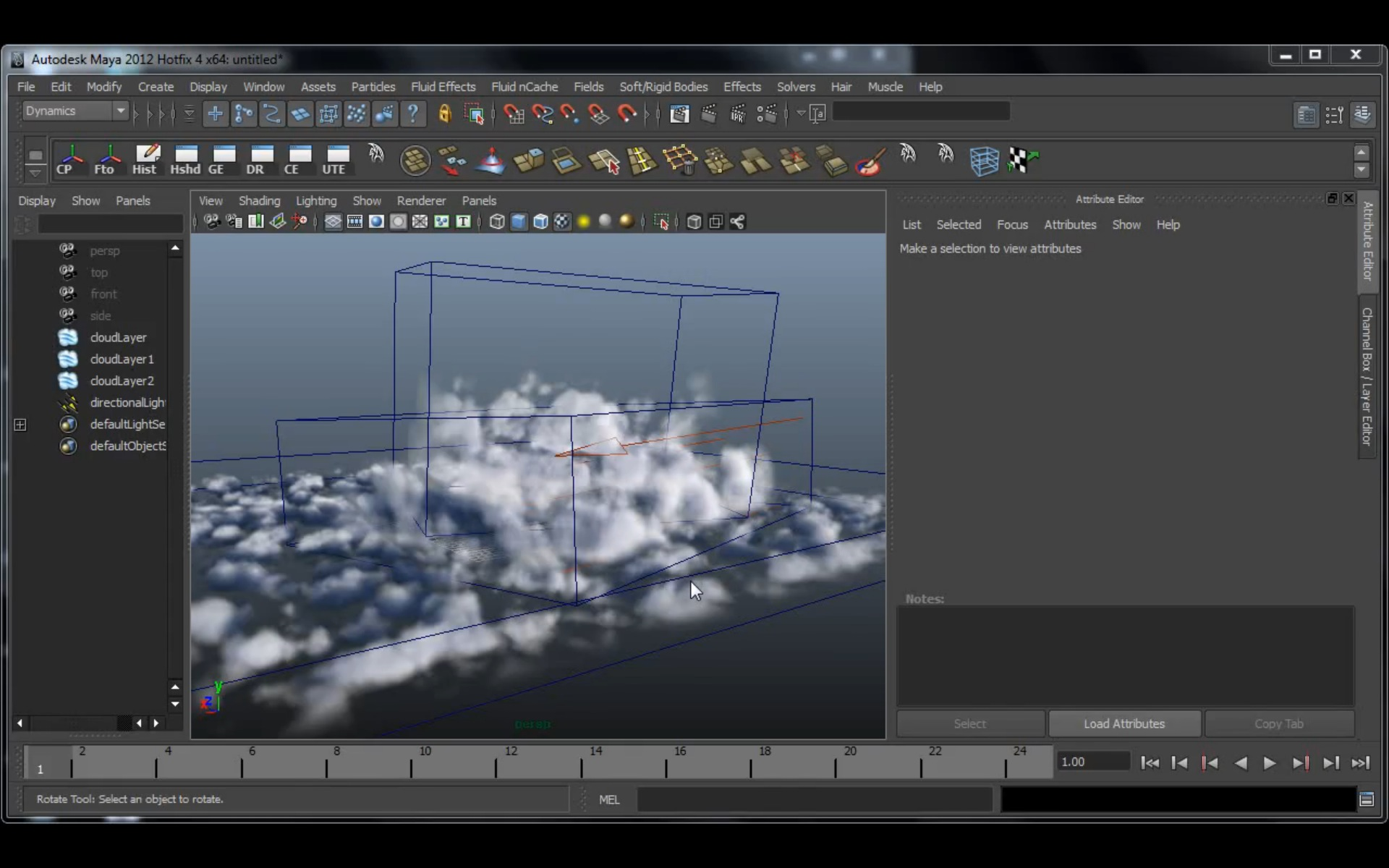 Maya dynamics tutorial create realistic clouds with fluid.