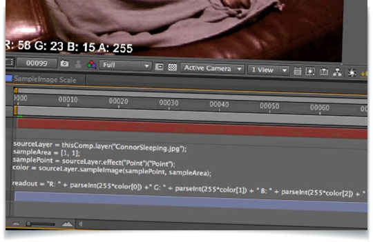 Using the Sample Image Expression in After Effects - Lesterbanks