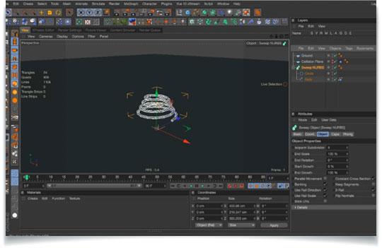 Create dynamic springs in Cinema 4D using splines