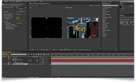 Exporting 3d camera tracker data from after effects to cinema 4d.
