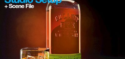lighting and rendering a Realistic Glass Bottle in Cinema 4D