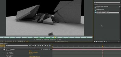 realistic dust hits using particles in after effects