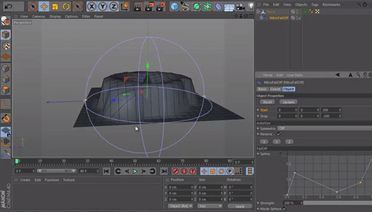 Cinema 4D | NitroFallOff Plugin Offers Modeling Control With