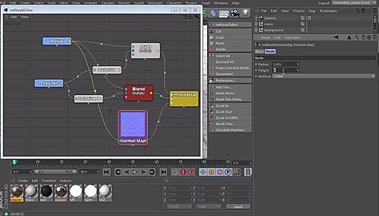 Cinema 4D   Creating Node-based Materials and Shaders Using cmNodes
