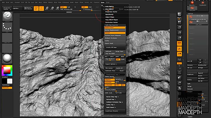 Multi Map Exporter for ZBrush and How To Render Displacements with V
