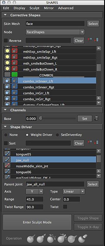 SHAPES-Blend-Shape-Editor