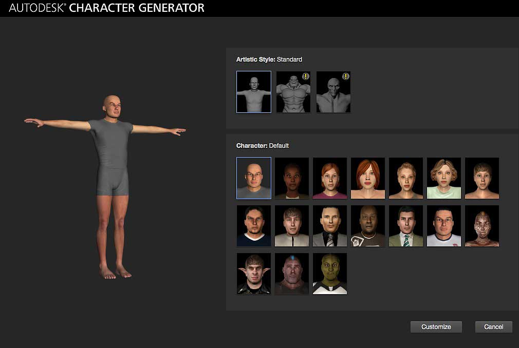 Autodesk introduces online character generator lesterbanks for Online rendering tool