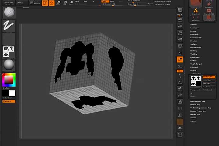 Using Thumbnails to Kickstart Your Zbrush ShadowBox Drawing