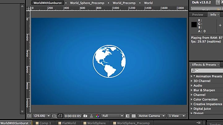 Creating a Rotating Vector Globe in After Effects Using