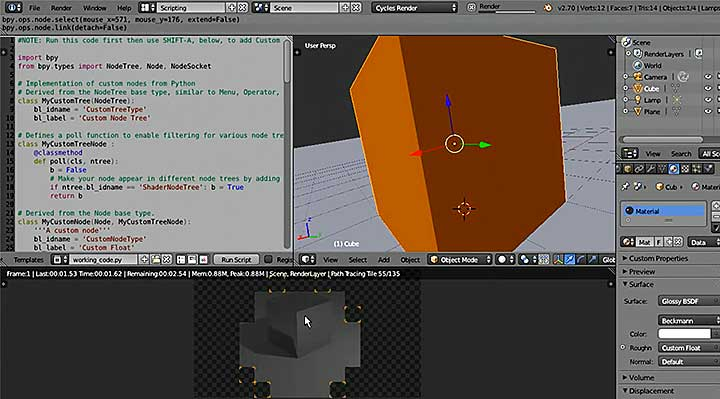 Create a Fully Functional PyNode for Blender Cycles