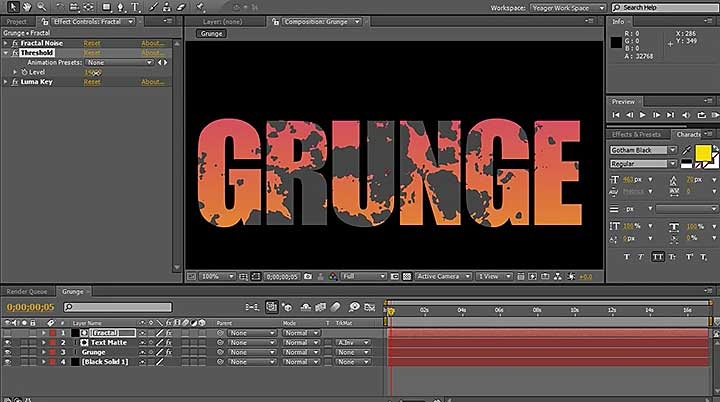 Grunge Camera Effect : Create a grunge effect easily in after effects lesterbanks