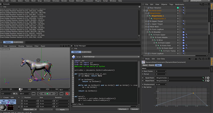 Workflow for Creating and Implementing Python in C4D