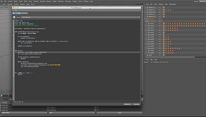A Quick Primer for Using Python in Cinema 4D - Lesterbanks