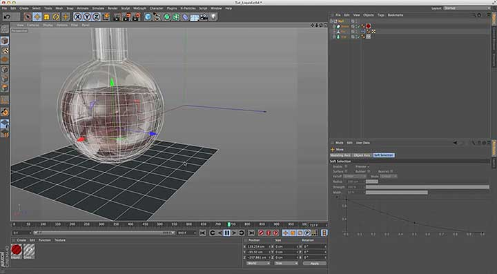 Create Liquid in a Container Using Cinema 4D Cloth - Lesterbanks