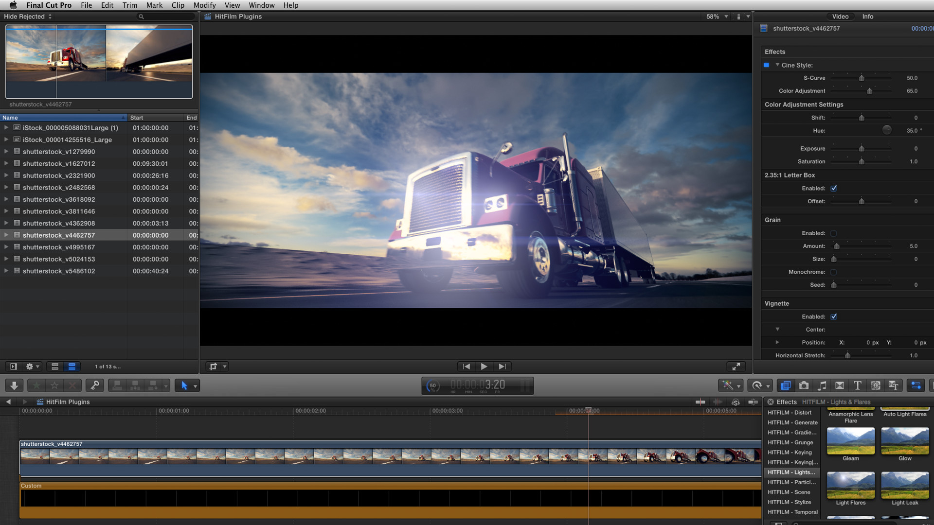 HitFilm Plugins for FCP X