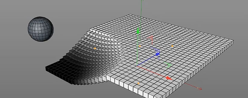 C4D simpleResponder Effector Allows MoGraph Respond to Objects