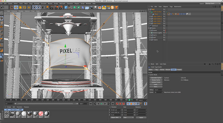 Managing C4D Cloth Position Easily - Lesterbanks