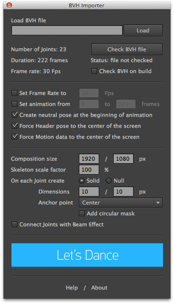 Use MoCap Data in After Effects With the BVH Importer - Lesterbanks