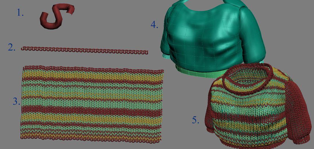 fabric weave effects Autodesk maya
