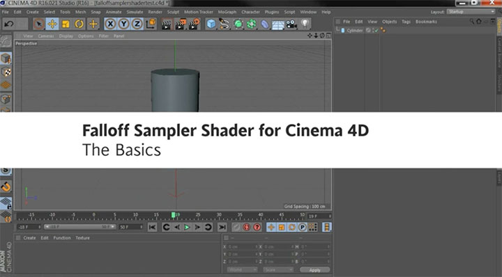 C4D Falloff Sampler Shader Creates Gradients Based Off a