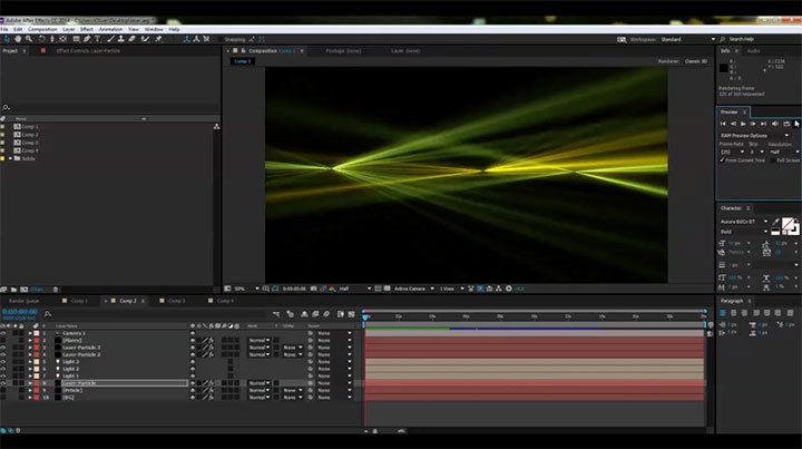 Create a Laser Light Show Effect in After Effects - Lesterbanks